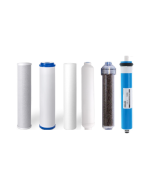 Replacement 6 Stage Dual Outlet RODI Reverse Osmosis Water Filters + 50 GPD Membrane