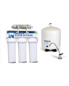 California Edition: 5 Stage RO Reverse Osmosis Water Filtration System 75 GPD 1:1 Ratio Low Waste:High Recovery