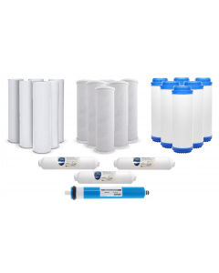 3 Year Supply: 22pc Reverse Osmosis Water Filters & Replacement 75 GPD Membrane