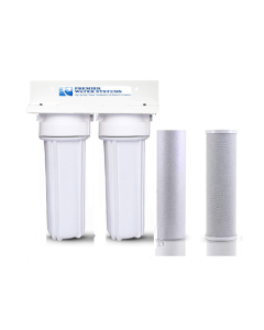 Premier Dual Drinking Water Filter System | Carbon + Sediment Filters