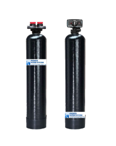 Premier Salt Free Water Softener & Conditioner | 12 GPM | + Whole House Carbon Filtration Backwash System