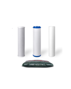 "Standard Replacement Water Pre-filters for 10"" Housing: Sediment, Carbon Block, GAC + 1.25 lbs of DI Resin"