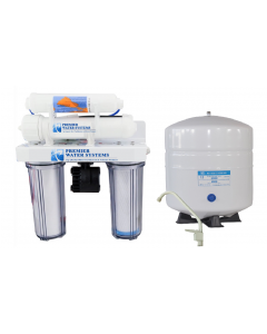 4 Stage Reverse Osmosis Drinking Water Filter System + Permeate Pump ERP 1000
