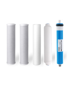 Replacement 5 Stage Reverse Osmosis Water Filters + 100 GPD Membrane