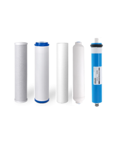 Replacement 5 Stage Reverse Osmosis Water Filters + 75 GPD Membrane