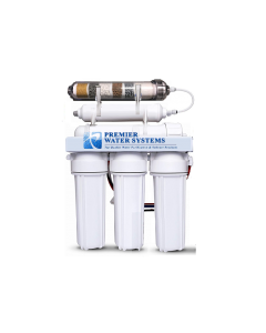 6 Stage Alkaline pH plus/ ORP Negative Reverse Osmosis Water Filtration System - 75 GPD