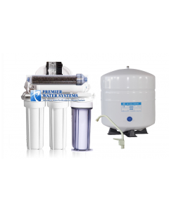 100 GPD - 6 Stage Dual Outlet Use (Drinking & 0 PPM Aquarium Reef/Deionization) Reverse Osmosis Water System (RO/DI) + Permeate Pump