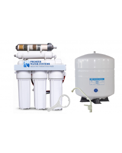 6 Stage Alkaline pH plus/ ORP Negative Reverse Osmosis Water Filtration System - 150 GPD, Tank