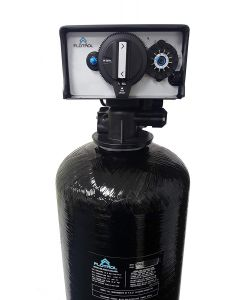 "WHOLE HOUSE WATER FILTRATION SYSTEM | 1.5 cu ft Catalytic Carbon | 10"" x 54"" Backwash Valve"