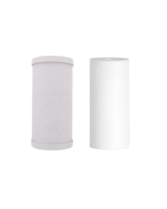 "2 Pack: Whole House Big Blue Replacement Water Filters (4.5"" x 10""): 10"" Sediment - Carbon Block Cartridges"