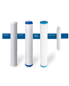 "Replacement Big Blue Filters/Cartridges + Inline for Commercial Reverse Osmosis Water Filtration Systems - 2.5""x20"" - Pleated"