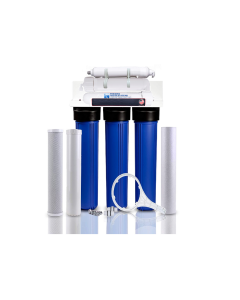 "Premier Light Commercial Reverse Osmosis Water Filter System | 200 GPD - 5 Stage- 20"" Filters + Booster Pump"