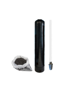 "Replacement Water Filter Tank + Pre-loaded Activated Coconut Shell Carbon (GAC) and Riser Tube | 10"" x 54"" - 1.5 Cubic Ft"