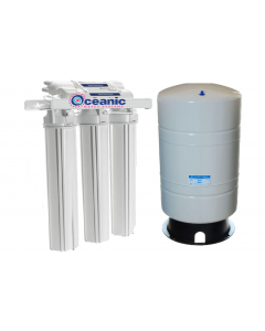 "Light Commercial 300 GPD Reverse Osmosis Water Filter System + 14 Gallon Tank 20"" Housing"