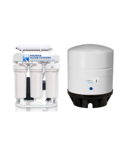 Light Commercial 200 GPD Reverse Osmosis Alkaline Water Filter System + 14 Gallon Tank