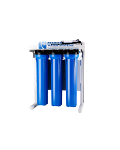 "Commercial Grade Reverse Osmosis Water Filtration System | 600 GPD, Booster Pump, 20"" Housing"