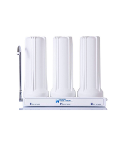 Premier Triple Counter Top Water Filtration System | Carbon Block, Sediment, GAC Filters