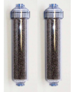 "2 Pack: Color Changing Mixed Bed Resin Deionization DI Replacement Inline Filter (2""x 10"") 1/4"