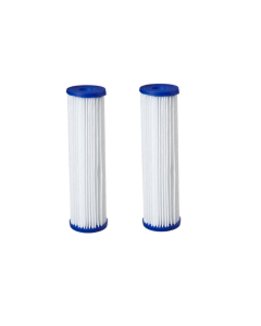 "2 Pack: Polyester Pleated Sediment Water Filter 4.5"" x 20"" 