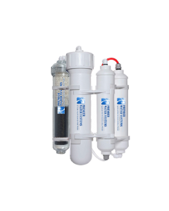 Portable Mini ALKALINE Reverse Osmosis Drinking Water System | 4 Stage | 50 GPD pH Neutral RO