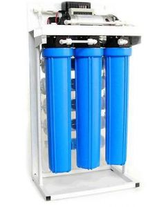 "Light Commercial 200 GPD - 20"" Reverse Osmosis Water Filtration System + Booster Pump 