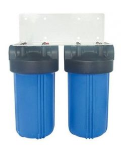 "Dual Big Blue Water Filter System + Bracket (10""x4.5"")"