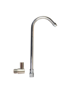 Add-On Spout + Elbow Spout Adapter for Portable or Countertop Water Filtration Systems | Chrome Finish | Lead Free |