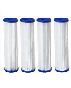 "4 Pack: Polyester Pleated Sediment Water Filter 4.5"" x 20"" 