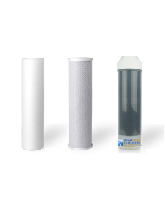 3 Replacement Water Filters- Sediment, Carbon Block, GAC/KDF-55
