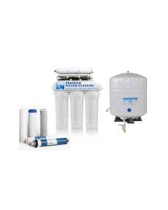 6 Stage Low Pressure Reverse Osmosis Water Filtration System + Permeate Pump, UV, Anti-scaling RO Filters for WELL WATER