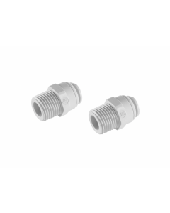 "Male Straight 1/4"" x 1/4"" Fitting Connection Part for Water Filters/Reverse Osmosis RO Systems (Pack of 2)"