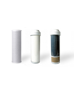Replacement Water Filter Set: for Fluoride, Chlorine, and Heavy Metal Removal | 3 Filter Set