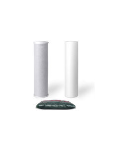 """Standard Replacement Water Pre-filters for 10"""" Housing: Sediment, Carbon Block + 1.25 lbs of DI Resin"""