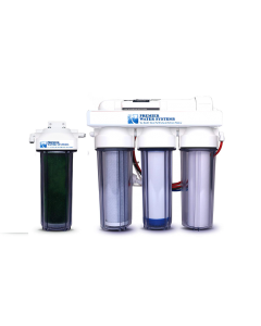 5 Stage - 0 PPM Reverse Osmosis/Deionization Aquarium Reef Water Filter System, 50 GPD RODI
