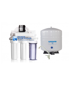 5 Stage Complete Reverse Osmosis Drinking Water Filter System + Permeate Pump ERP500