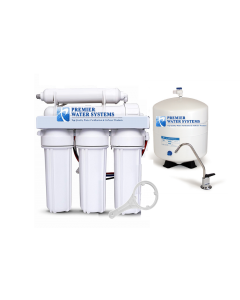 5 Stage Reverse Osmosis Water Filtration System 150 GPD | 1:1 Drain Ratio Low Waste/High Recovery RO System