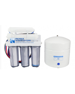 5 Stage: Complete Home Reverse Osmosis Drinking Water Filtration System 50 GPD | Clear