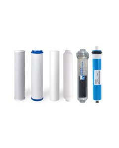 Replacement RO Filters +100 GPD Membrane for 6 Stage Alkaline Reverse Osmosis