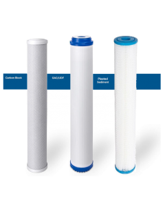 "Replacement Standard Pre-Filters/Cartridges for Commercial Reverse Osmosis Water Filtration Systems | KDF 85- 2.5""x20"""