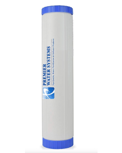 "Whole House Big Blue Refillable Water Filter Cartridge 4.5"" x 20"" - Catalytic Carbon/KDF 55 - Chloramine Removal"