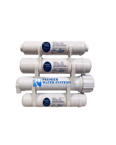 "4-Stage Portable Heavy Duty XL Reverse Osmosis Water Filter Purification System | 50 GPD | 2.5 x 12"" Filters"
