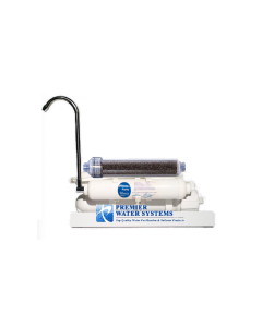Counter Top Reverse Osmosis Water Filter 4 Stage: DUAL OUTLET Drinking + Aquarium