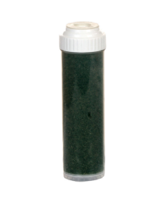 """2.5"""" x 10"""" Refillable Inline Filter - Catalytic Carbon for Chloramine and Chlorine Removal + KDF 85 for Iron, Sulfur, Rotten Egg Smell Reduction"""