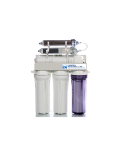 50 GPD | Portable Reverse Osmosis Dual Outlet Use (Drinking + 0 TDS Aquarium Reef / Deionization) ALKALINE Water Filtration System