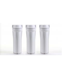 3 White Housing Sumps for Reverse Osmosis Water Filtration Systems