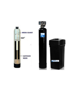 Well Water Softener + Iron, Sulfur Reducing Whole House Water System + KDF 85 MediaGuard | 2.5 cu ft 80,000 Grain - Iron Pro 2