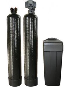 """Whole House Fleck Water Softener + Upflow Carbon Filtration System (9""""x48"""", 32000 Grain, 1 Cubic Ft)"""