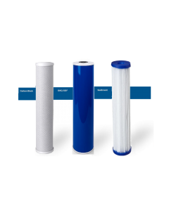 "Replacement Big Blue Filters/Cartridges for Whole House Water Filtration Systems - 4.5""x20"" Pleated"