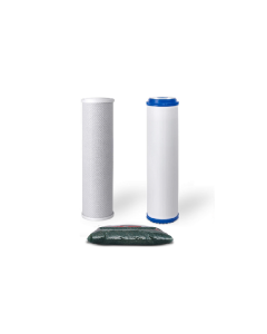 """Standard Replacement Water Pre-filters for 10"""" Housing: GAC, Carbon Block + 1.25 lbs of DI Resin"""