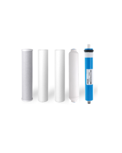 Replacement 5 Stage Reverse Osmosis Water Filters + 75 GPD Membrane (2 Sediments)